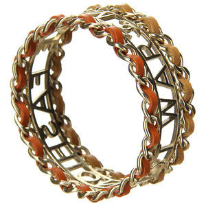CHANEL Jewelry - Chanel Make Fashion Not War Bangle Bracelet